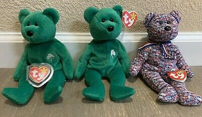 $199.99 • Buy Lot Of 3 Beanies Erin Beanie Original Baby (2), & USA TY 2000 Beanie Baby (1)!
