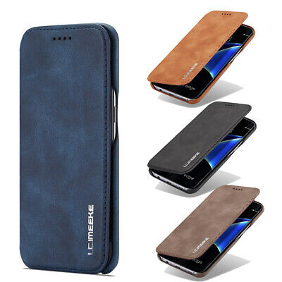 AU18.99 • Buy For Samsung Galaxy S7/S7 Edge Case Magnetic Leather Card Holder Flip Stand Cover