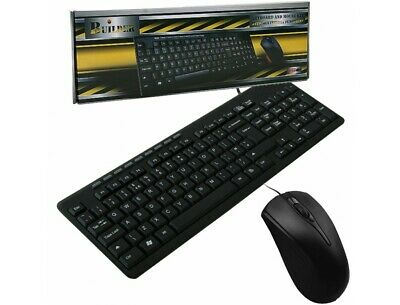 Builder Wired Multimedia Keyboard And Mouse Desktop Kit USB -UK STOCK! NEW! • 10£