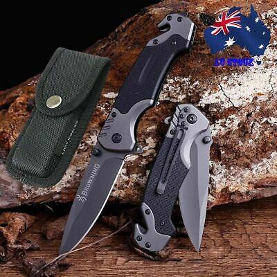 AU23.99 • Buy 099# Browning Folding Knife Outdoor Tool Camping Hunting Survival Pocket Knives