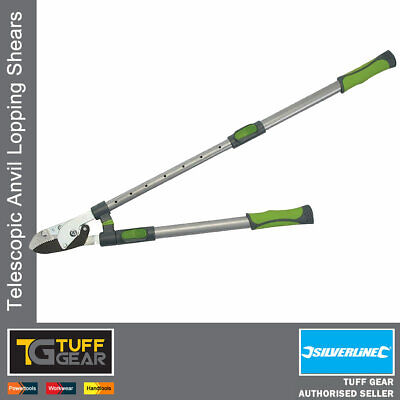 £20.99 • Buy Telescopic Anvil Lopping Shears Tree Branch Pruning Cutting Loppers Extending