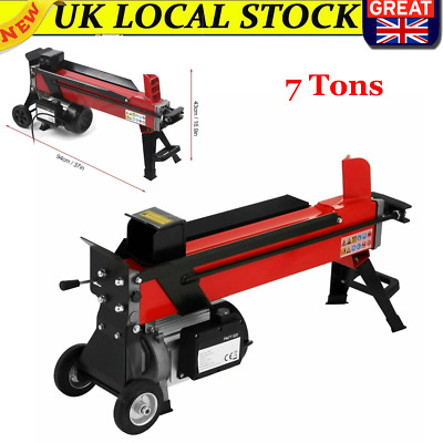 Portable Electric Hydraulic Log Splitter 7 TON Wood Timber Cutter Semi-Automatic • 324.99£