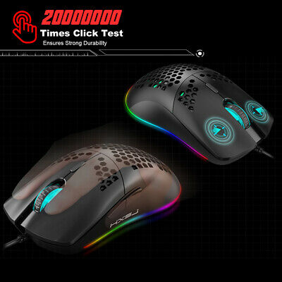 AU23.29 • Buy HXSJ J900 USB Wired Gaming Mouse RGB Gaming Mouse With Six Adjustable DPI O2F6
