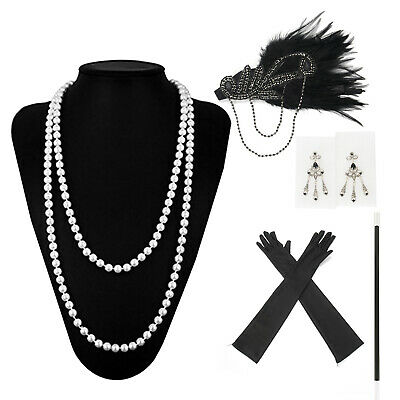 1920s 20s Gatsby Charleston Flapper Fancy Dress Accessories For Costume Lot • 6.99£