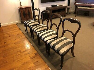 AU500 • Buy 4 Balloon Back Antique Chairs
