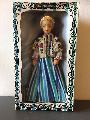 Vintage Rexard 1960's Miss Anatolia Doll Boxed With Tags Faun • 12.50£