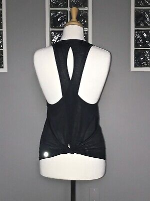 $ CDN68 • Buy Lululemon Tied And True Tank 4 Black Tie Back Singlet Two Way Tank Lightweight