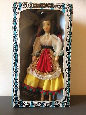 Vintage Rexard 1960's Miss Portugal Doll Boxed With Tags Faun • 12.50£