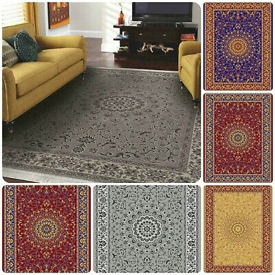 Traditional Vintage Style Classic Small Large Living Area Rugs Mats Floor Runner • 38.99£