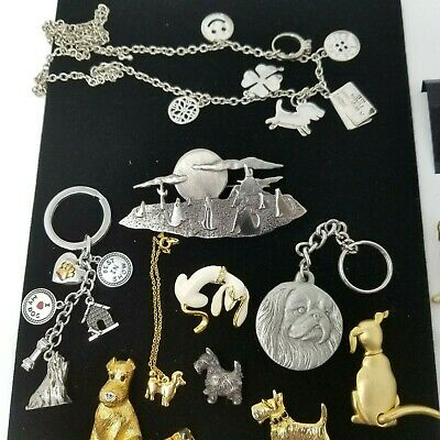 $ CDN169 • Buy 27pc Vintage To Modern Figural Dog Jewelry Lot Brooch Pin Earrings -Swarovski,JJ