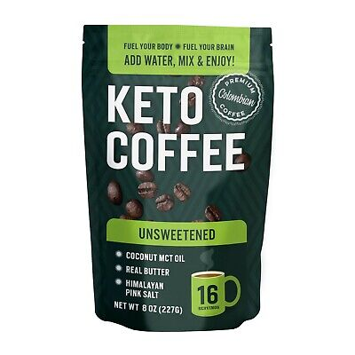 $12.25 • Buy Keto Coffee With Real Butter, MCT Oil, And Himalayan Pink Salt (Unsweetened)
