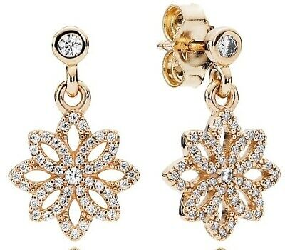 PANDORA Lace Botanique Drop Earrings - 250323CZ • 210.32£