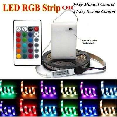$7.23 • Buy Battery Powered Flexible LED Strip Light 5050 RGB Waterproof Portable Controller