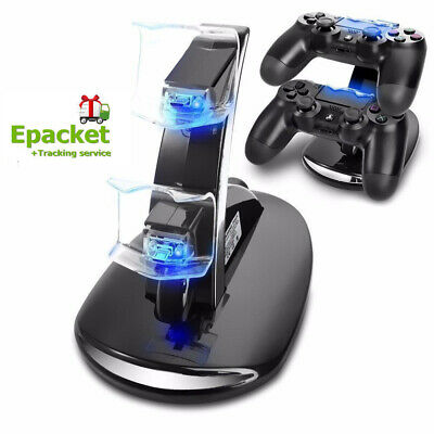 AU15.99 • Buy For PS4 Dual Remote Controller LED Charger Dock Station USB Fast Charging Stand