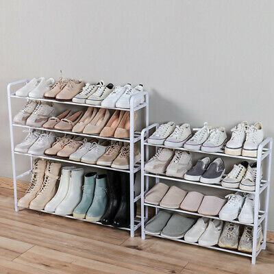 AU35.99 • Buy PLASTIC Shoe Boot Rack 4/5 Tier Layer Organizer Storage Stand Pipe Shoes Boots