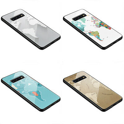 World Map Cartography Various Styles L93 Glass Silicone Case  • 8.99£