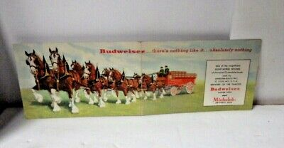 $ CDN13.20 • Buy 1930's ANHEUSER BUSCH BUDWEISER CLYDESDALES BEER WAGON FOLD OUT DOUBLE POSTCARD