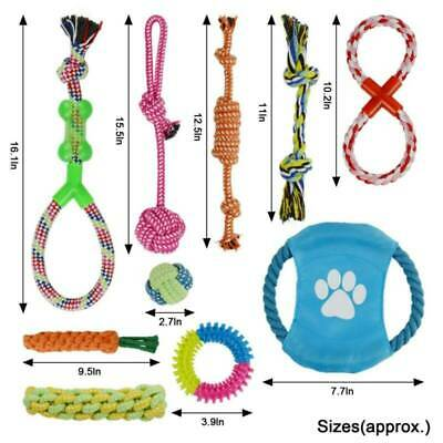 Dog Rope Toys Kit Tough Strong Chew Knot Ball Pet Puppy Bear Cotton Toy Bulk UK • 11.56£