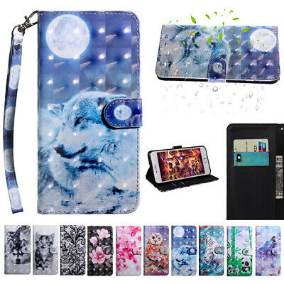 AU8.70 • Buy For Sony Xperia L4 L3 5 10 XZ3 Pattern Leather Flip Wallet Card Stand Case Cover