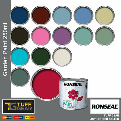 Ronseal Outdoor Garden Paint - For Exterior Wood Metal Stone Brick Shed, Fences • 12.95£