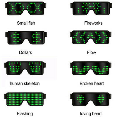 Nightclub Party LED Glasses Light Up Glow Flashing Sunglasses Eyewear Shades • 7.23£