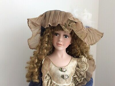 "$ CDN129 • Buy 37"" Tall Porcelain Doll With Victorian Dress"