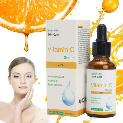 AU7.65 • Buy Pure Vitamin C Hyaluronic Acid Face Serum Moisurizing Anti Aging Wrinkle 30ml
