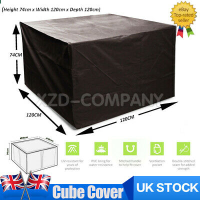 Heavy Duty Garden Patio Furniture Table Cover For Rattan Table Cube Set Outdoor • 11.55£