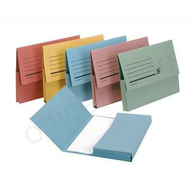 £4.99 • Buy 10 X A4 Strong CARDBOARD FILING-DOCUMENT-WALLET-FOLDERS 24.3 X 32.5cm 285gsm