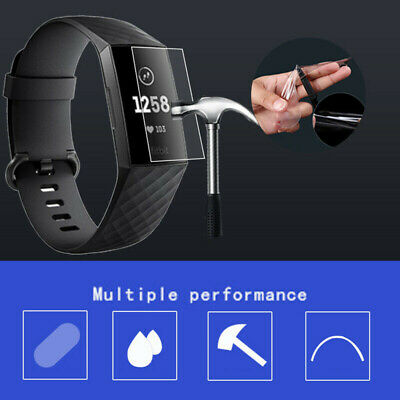 $ CDN2.58 • Buy 3PCS For Fitbit Charge 3 Watch Full Cover Tempered Glass Film Screen ProtectPZ