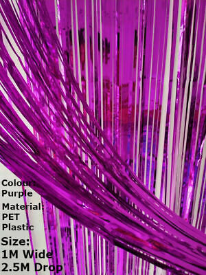 Foil Fringe Tinsel Shimmer Curtain Door Wedding Birthday Party DECORATIONS • 3.55£
