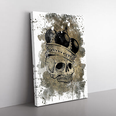 £19.95 • Buy Skull With A Crown V3 Framed Canvas Print Wall Art Picture Large Home Decor