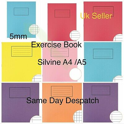 £1.99 • Buy Silvine A4 A5 Exercise Books 80 Pages School Notebooks  Class Children Homework