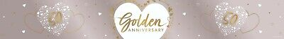 9ft Golden Anniversary Foil Banner 50th Wedding Party Decoration Supplies Gold • 2.45£
