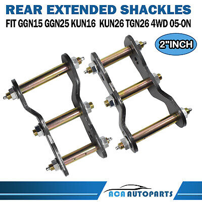 AU78 • Buy 2  Rear Extended Greasable Shackles Kit For Toyota Hilux Vigo KUN26 GGN15 05-ON