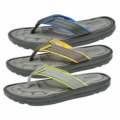 Dunlop Mens Memory Foam Beach Summer Thong Toe Post Flip Flops Pool Sandals  • 16.98£