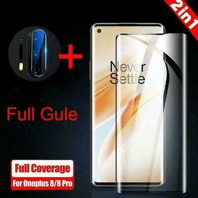 AU4.90 • Buy 9H 3D Curved Tempered Glass Film Screen Protector For OnePlus 8 OnePlus / S0B5