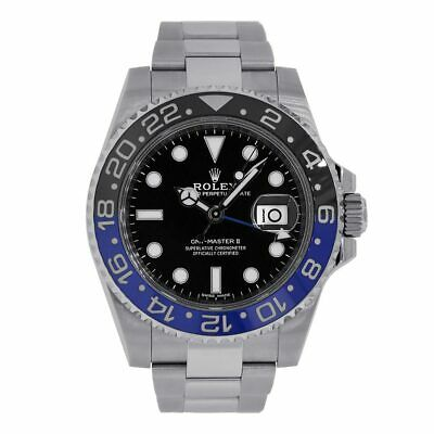 $ CDN25896.69 • Buy Rolex GMT Master II Stainless Steel Batman Ceramic Bezel 40MM Watch 116710BLNR