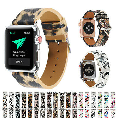 AU18.99 • Buy For Apple Watch Band Leather Series 5 4 3 2 1 IWatch Band Strap Bracelet Buckle