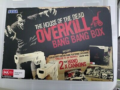 AU150 • Buy Wii - House Of The Dead Overkill Bang Box Collectors Edition Hand Cannons Guns