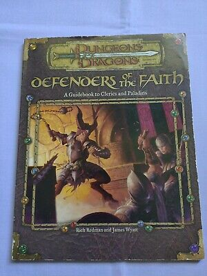 AU55.50 • Buy Dungeons & Dragons 3e 3.5 DEFENDERS OF THE FAITH Guidebook CLERICS PALADINS 2001