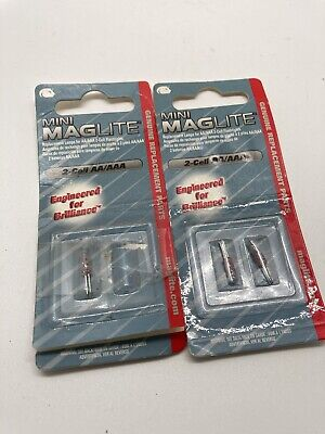 Maglite LM2A001 Bulb Only For AA Mini Mag 2 Per Pack 3 Total • 3.73£