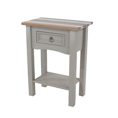 Corona Vintage Solid Pine Console Hall Table Grey Mexican White & Natural Wood • 64.99£