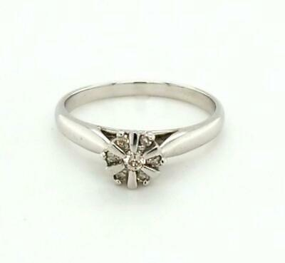 AU199 • Buy 9ct WHITE GOLD FLOWER CLUSTER STYLE DRESS RING TW 2.50g
