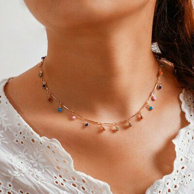 Fashion Candy Color Ball Choker Pendant Necklace Clavicle Chain Women Jewellery • 2.77£