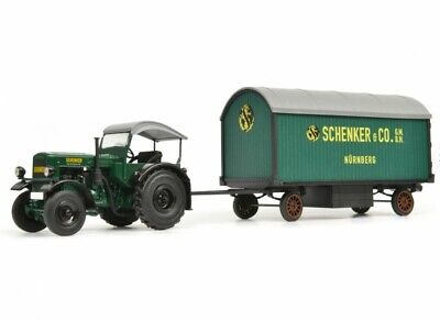 AU191.38 • Buy SCHUCO 1:3 2 Deutz F3 Tractor With Canopy And Schenker Mobile Home 450781900