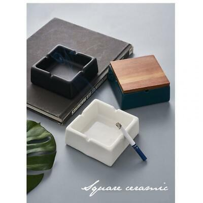 Ashtray With Lid Simple Cigar Ashtray Office Decor Smoker Accessory Gift • 12.70£