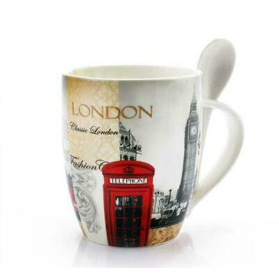 Lesser & Pavey London Collage Mug With Spoon Gift Souvenir Set In Gift Box • 6.99£