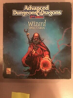 AU82.89 • Buy Advanced Dungeons & Dragons WIZARD SPELL CARDS Box Set TSR 9356 2nd Edition AD&D