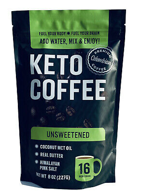 $19.95 • Buy Keto Coffee With Real Butter, MCT Oil, And Himalayan Pink Salt (Unsweetened) 8oz